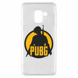 Чехол для Samsung A8 2018 PUBG logo and game hero
