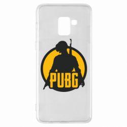 Чехол для Samsung A8+ 2018 PUBG logo and game hero