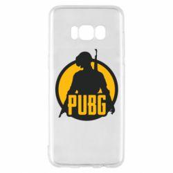 Чехол для Samsung S8 PUBG logo and game hero