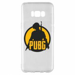 Чехол для Samsung S8+ PUBG logo and game hero