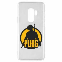 Чехол для Samsung S9+ PUBG logo and game hero