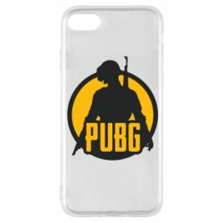 Чехол для iPhone 8 PUBG logo and game hero