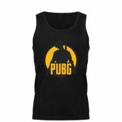 Мужская майка PUBG logo and game hero