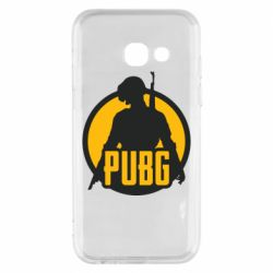 Чехол для Samsung A3 2017 PUBG logo and game hero
