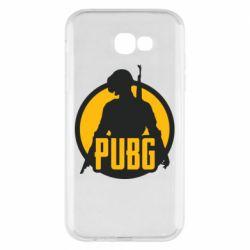 Чехол для Samsung A7 2017 PUBG logo and game hero