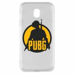Чехол для Samsung J3 2017 PUBG logo and game hero