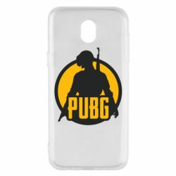Чехол для Samsung J5 2017 PUBG logo and game hero