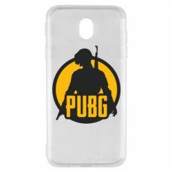 Чехол для Samsung J7 2017 PUBG logo and game hero