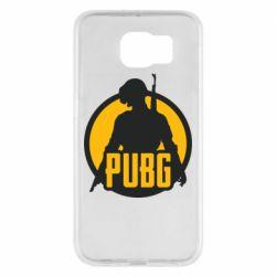Чехол для Samsung S6 PUBG logo and game hero