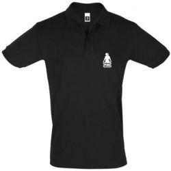 Мужская футболка поло PUBG logo and hero