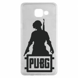 Чехол для Samsung A5 2016 PUBG logo and hero