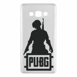 Чехол для Samsung A7 2015 PUBG logo and hero