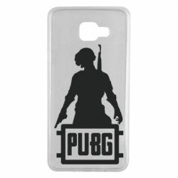 Чехол для Samsung A7 2016 PUBG logo and hero