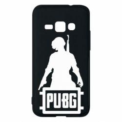 Чехол для Samsung J1 2016 PUBG logo and hero
