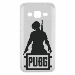 Чехол для Samsung J2 2015 PUBG logo and hero