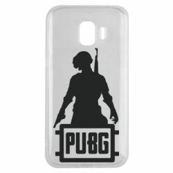 Чехол для Samsung J2 2018 PUBG logo and hero