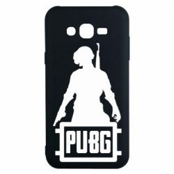 Чехол для Samsung J7 2015 PUBG logo and hero