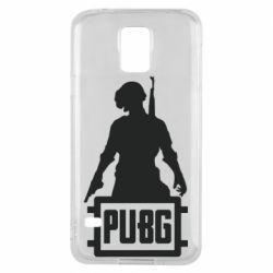 Чехол для Samsung S5 PUBG logo and hero