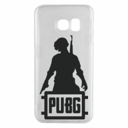 Чехол для Samsung S6 EDGE PUBG logo and hero
