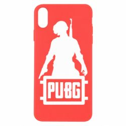 Чехол для iPhone Xs Max PUBG logo and hero