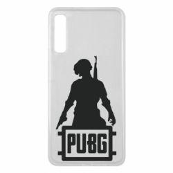 Чехол для Samsung A7 2018 PUBG logo and hero
