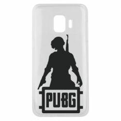 Чехол для Samsung J2 Core PUBG logo and hero