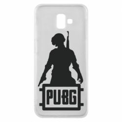 Чехол для Samsung J6 Plus 2018 PUBG logo and hero