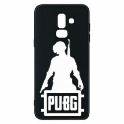 Чехол для Samsung J8 2018 PUBG logo and hero