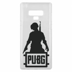 Чехол для Samsung Note 9 PUBG logo and hero