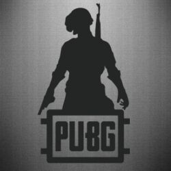 Наклейка PUBG logo and hero
