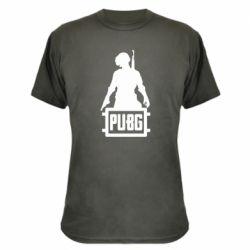 Камуфляжная футболка PUBG logo and hero