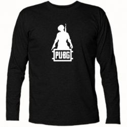 Футболка с длинным рукавом PUBG logo and hero