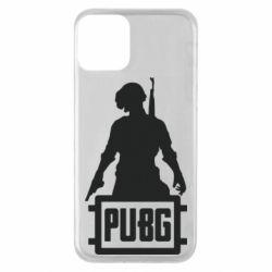 Чехол для iPhone 11 PUBG logo and hero