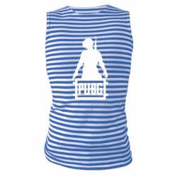 Майка-тельняшка PUBG logo and hero