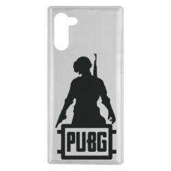 Чехол для Samsung Note 10 PUBG logo and hero