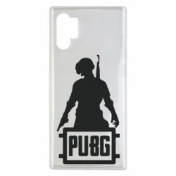 Чехол для Samsung Note 10 Plus PUBG logo and hero