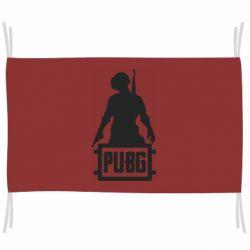Флаг PUBG logo and hero