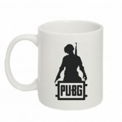 Кружка 320ml PUBG logo and hero