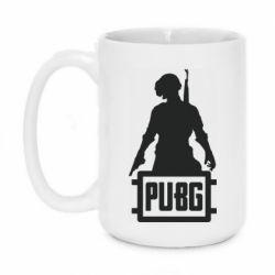 Кружка 420ml PUBG logo and hero