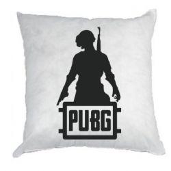 Подушка PUBG logo and hero