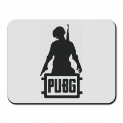 Коврик для мыши PUBG logo and hero