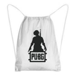 Рюкзак-мешок PUBG logo and hero