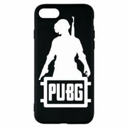 Чехол для iPhone 7 PUBG logo and hero