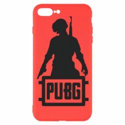 Чехол для iPhone 7 Plus PUBG logo and hero