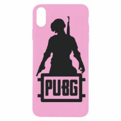 Чехол для iPhone X/Xs PUBG logo and hero
