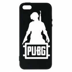 Чехол для iPhone5/5S/SE PUBG logo and hero