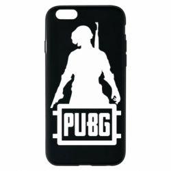 Чехол для iPhone 6/6S PUBG logo and hero