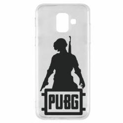 Чехол для Samsung A6 2018 PUBG logo and hero
