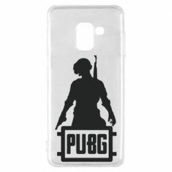 Чехол для Samsung A8 2018 PUBG logo and hero