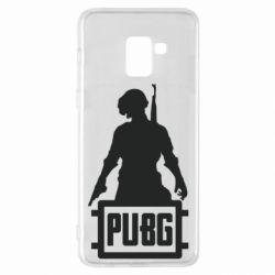 Чехол для Samsung A8+ 2018 PUBG logo and hero